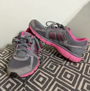 Pink and Gray Nike Dual Fusion ST2